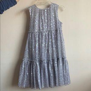 Crewcuts grey glittery dress